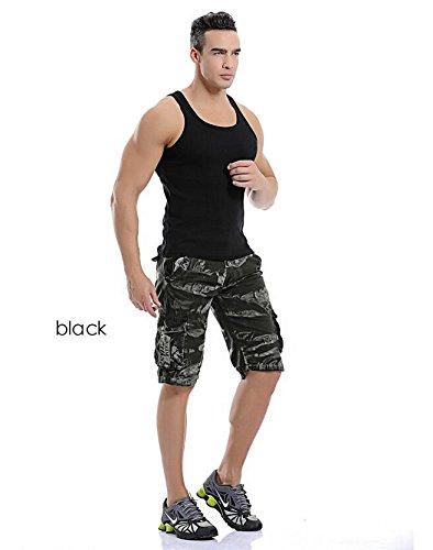 GG Sciolto cinque tempo libero pantaloncini. vita tasche tuta Camo , black camouflage , 29