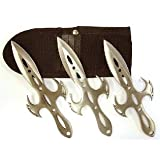 Spirit of Japanese Ninja Throwing Kits - set of 3 Star Shaped Ninja knives with nylon case