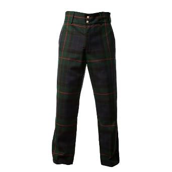 Com mens scottish gunn modern tartan check trousers trews clothing