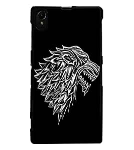 ColourCraft Scary Animal Look Design Back Case Cover for SONY XPERIA Z1