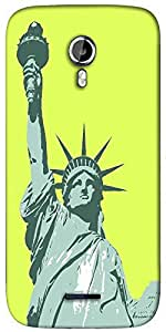 Snoogg statue of liberty Designer Protective Back Case Cover For Micromax A117