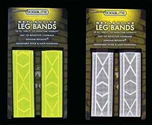 Jog A Lite Jogalite Cross Training Reflective Leg bands (pair) -White