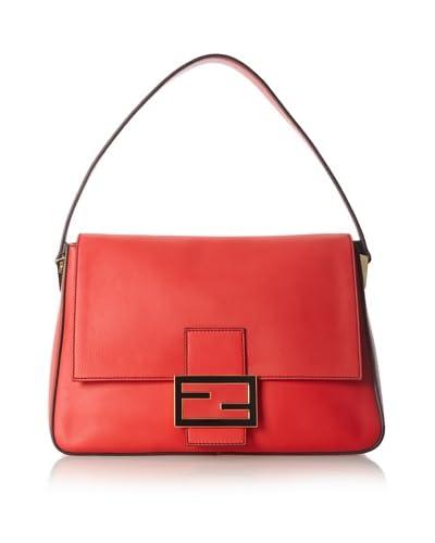Fendi Women's Triangle Shoulder Bag, Pink Red