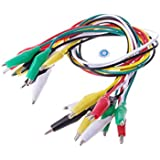 SMAKN 10 Pcs Colorful Insulating Alligator Clip Test Lead Cable 55cm