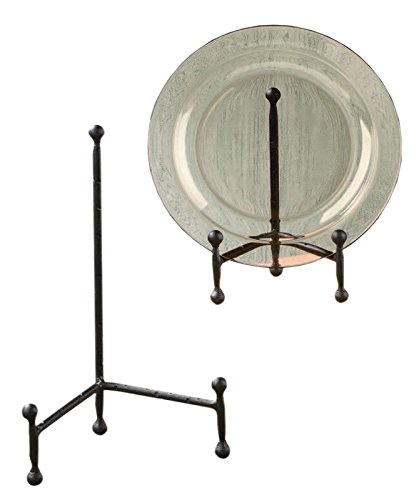 Decorative Tripod Plate Stand and Art Holder Easel in Black Finish - 11