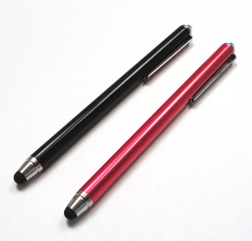 Bargains Depot® (Black & Red) 2 pcs (2 in 1 Bundle Combo Pack) SILM / ACCURATE / FINE POINT / THINNER BARREL Capacitive Stylus/styli Universal Touch Screen Pen for Tablet & Cell Phone : Le Pan TC 970 9.7 Inch Google Android Tablet, Google 3G WiFi MID 4GB