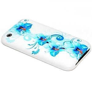 iPhone 3G/3GS Schutz Hülle Bumper Case-Cover Silikon TPU Blume Case Cover
