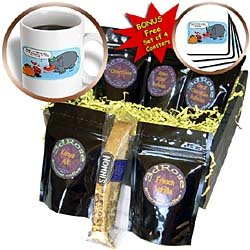 Rich Diesslins Cartoon Days of Christmas TCDC - Nelson Deweys Rudolf Substitute Dumbo-like Elephant - Coffee Gift Baskets - Coffee Gift Basket
