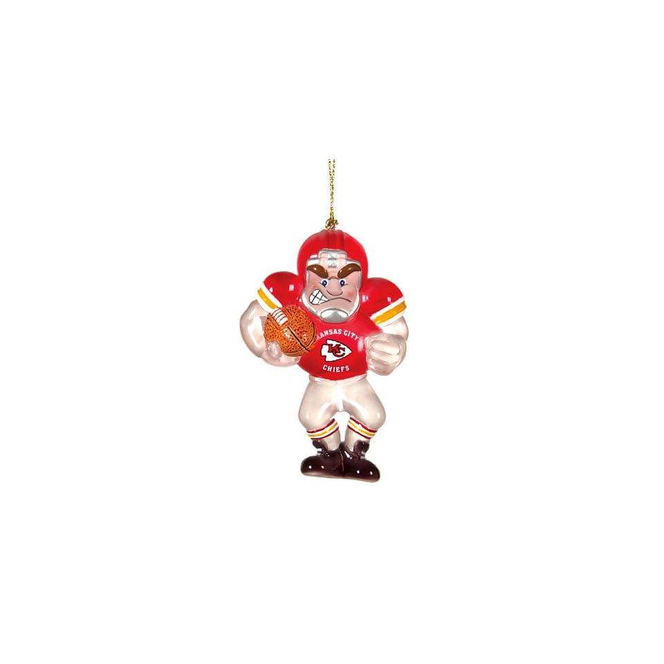 BSS   Kansas City Chiefs NFL Acrylic Football Player Ornament (3.5)