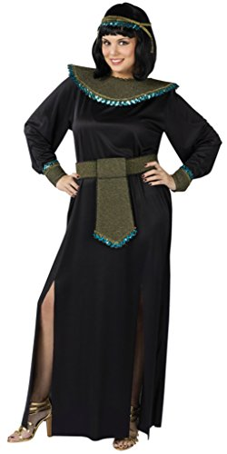 Funworld Womens Egyptian Sexy Midnight Cleopatra Black Halloween Fancy Costume