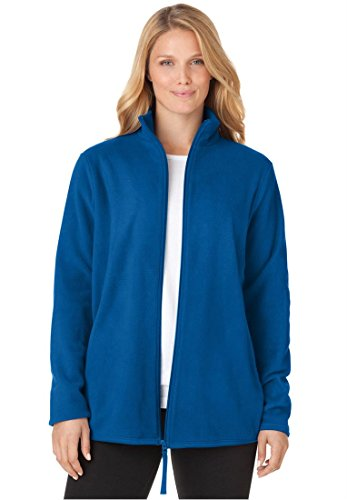 Woman Within Women's Plus Size Cozy Zip Anti-Pilling Fleece