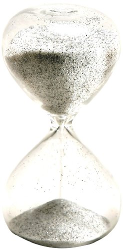 G.W. Schleidt STC10-BW 4-Inch 5-Minute Glass Sand Timer with Black and White Sand