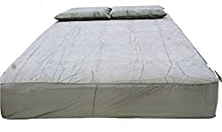 Bed Protector- Royal King Size Cotton Grey 78*72 Sanitized treated By Assocham - Switzerland