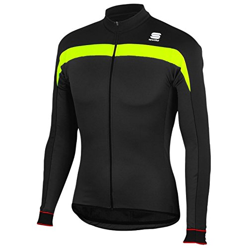 SPORTFUL MAGLIA BIKE INVERNALE PISTA THERMAL (XXXL, BLACK/YELLOW)