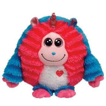 """TY INC Monstaz Delilah Pink & Blue Monster 8"""" Medium Plush Toy 37513 - 1"""