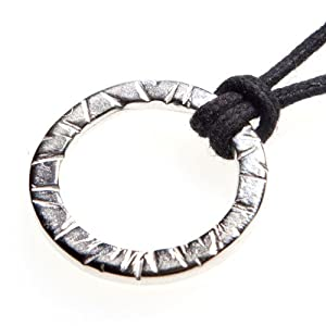 Infinity Silver-dipped Pendant Necklace on Adjustable Natural Fiber Cord