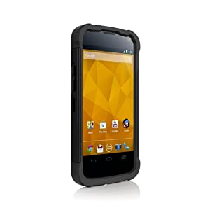 Ballistic Shell Gel Case for LG Nexus 4 - Black