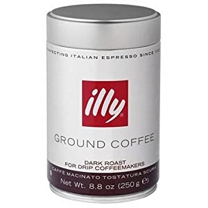 illy Dark Roast Ground Coffee for Drip Coffeemakers by illy