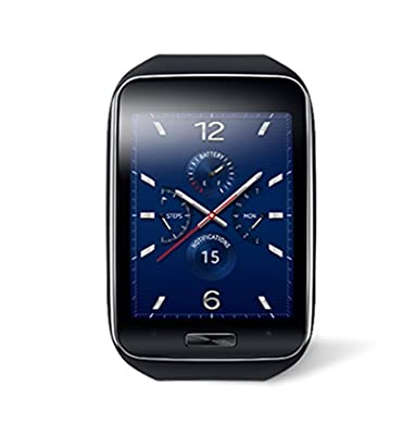 Samsung Galaxy Gear S R750W Smart Watch w/ Curved Super AMOLED Display (Black) - International Version No Warranty