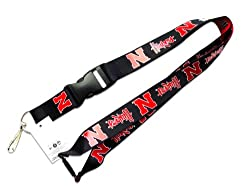 Nebraska Cornhuskers Reversible Clip Lanyard Keychain Id Ticket Holder