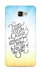 AMEZ you can never cross the Ocean Back Cover For Samsung Galaxy A9