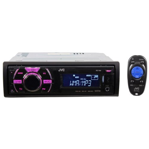 Jvc Kd-X40 Single Din In-Dash Car Stereo Digital Media Receiver With Front Usb, Ipod Control And Variable Color Control
