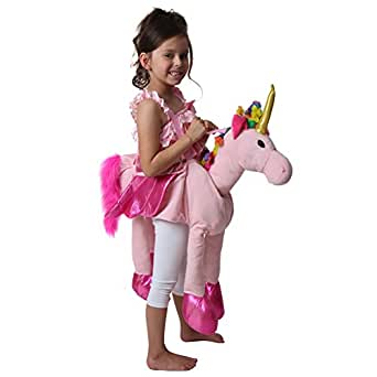 Amazon.com: Rainbow Ride On Plush Unicorn Costume: Clothing
