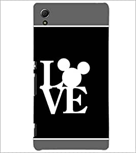 PrintDhaba Love D-1376 Back Case Cover for SONY XPERIA Z4 (Multi-Coloured)