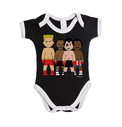 Vipwees 7G Rock N Rivals Boxing Baby Grow Vest Boy/Girl Caricature Gift