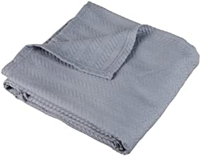 Pinzon Signature Zero-Twist 100-Percent Egyptian Cotton Blanket, Full/Queen, Grey