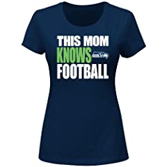 Seattle Seahawks NFL Ladies This Mom Knows Football Special Edition T-shirt by Majestic VF