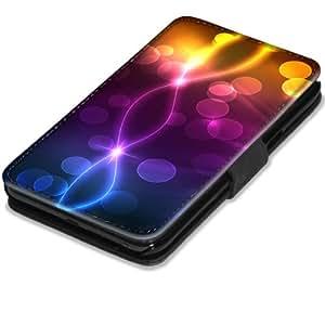 Abstrait 10082, Pastel, Etui Personnalisé Coque Housse Cover Coquille en Cuir Noir avec l'Image Coloré pour Samsung Galaxy Note 2 N7100.