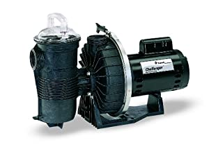 Pentair 343240 Challenger High Flow Pump Single Speed 2-Horsepower Up Rated Black