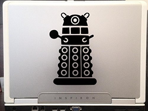 Doctor Who Dalek Robot car truck laptop macbook window decal sticker 6x4 inches black