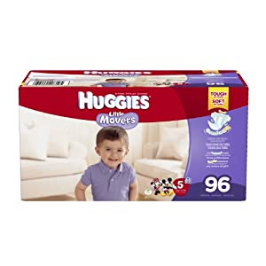 Huggies Little Movers Diapers, Size 5, 96 Count