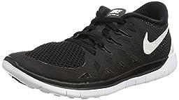 Nike Kids Free 5.0 (GS) Black/White/Anthracite Running Shoe 7 Kids US