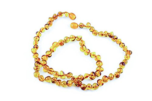 Healing Hazel 100% Balticamber Adult Necklace, Cognac Polished