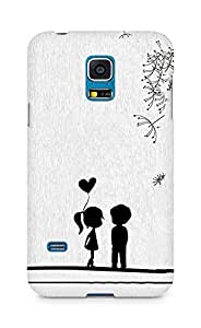 Amez designer printed 3d premium high quality back case cover for Samsung Galaxy S5 Mini (Cute Sweet Love Little Couple)