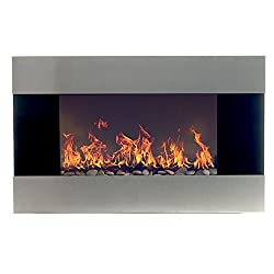 Northwest 80-EF421S Electric Fireplace with Wall Mount and Remote, Stainless Steel by Northwest