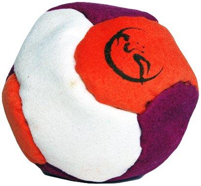 pro-footbag-aka-hacky-sack-freestyle-6-panneaux-violett-orange-white-parfait-pour-les-stands-et-les-