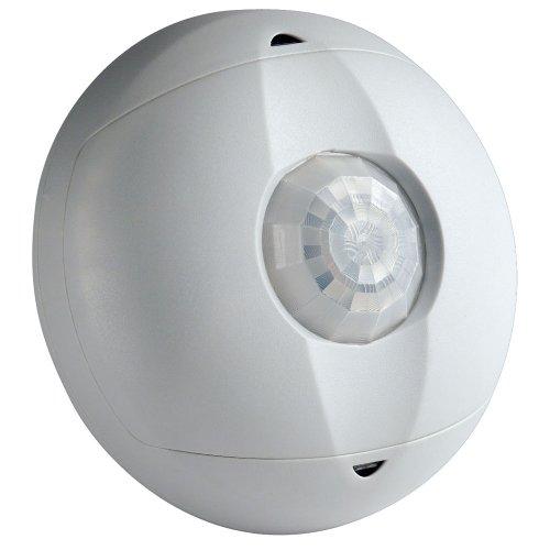 Leviton OSC04-I0W Ceiling Mount Occupancy Sensor, PIR, 360 Degree, 450 sq. ft. Coverage, Self-Adjusting, White