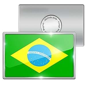 """Amazon.com: Fridge Magnet """"Brazil Flag"""" - Neonblond ..."""