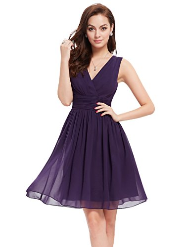 Ever Pretty Womens Short Semi Formal Cocktail Party Dress 10 US Purple Apparel Accessories ...