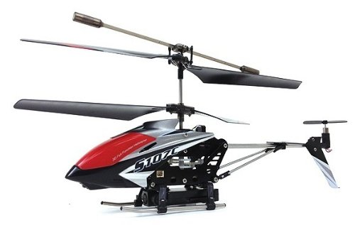 Syma 107C Electric Rc Helicopter Gyro 3.5Ch Spy Camera Ready To Fly (Black)