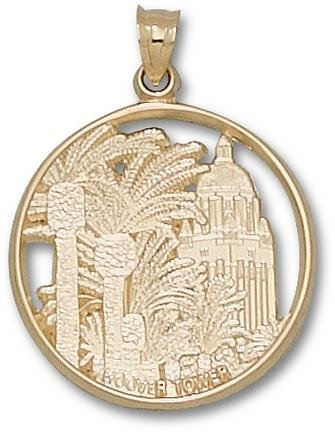 Stanford Cardinal Hoover Tower Pendant - 14KT Gold Jewelry by Logo Art