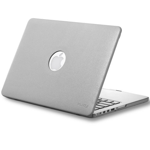 #!  Kuzy - Retina 13-Inch GRAY LEATHER Hard Case for MacBook Pro 13.3