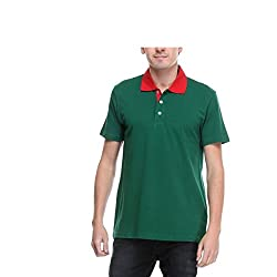 Opg Men's Cotton Polo (O211T038_Green_X-Large)