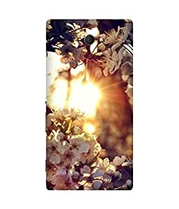 Rays And Flowers Sony Xperia M2 Case