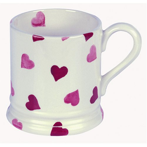 Emma Bridgewater Pink Hearts 1/2 Pint Mugs 0.3ltr