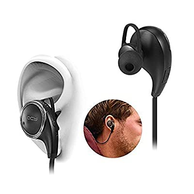 Win-Market® QCY Qy8 Wireless Bluetooth Headphones with Microphone for Sports Exercise Sweatproof Stereo Bass Earbuds Headset Earphones for iPhone iPad Touch Samsung LG HTC android Smart Phones